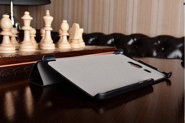 """Фирменный умный тонкий чехол для Samsung Galaxy Tab A 2016 7.0 SM-T285/ T280 / T280N / T288 / T285C  """"Il Sottile"""" черный пластиковый"""