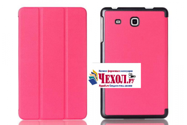 "Фирменный умный тонкий чехол для Samsung Galaxy Tab A 2016 7.0 SM-T285/ T280 / T280N / T288 / T285C  ""Il Sottile"" розовый пластиковый"