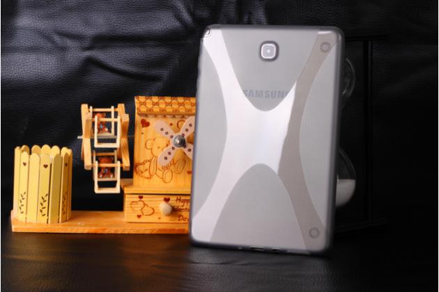 """Фирменная ультра-тонкая полимерная из мягкого качественного силикона задняя панель-чехол-накладка для Samsung Galaxy Tab A 8.0 SM-T350/T351/T355"""" серая"""
