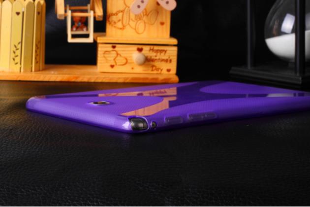 """Фирменная ультра-тонкая полимерная из мягкого качественного силикона задняя панель-чехол-накладка для Samsung Galaxy Tab A 8.0 SM-T350/T351/T355"""" фиолетовая"""