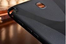 """Фирменная ультра-тонкая полимерная из мягкого качественного силикона задняя панель-чехол-накладка для Samsung Galaxy Tab A 8.0 SM-T350/T351/T355"""" черная"""