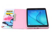 """Фирменный уникальный необычный чехол-подставка для Samsung Galaxy Tab A 8.0 SM-T350/T351/T355 """"тематика Радужные Бабочки"""""""