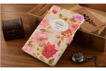 """Фирменный уникальный необычный чехол-подставка для Samsung Galaxy Tab A 8.0 SM-T350/T351/T355"""" """"тематика Винтажные цветы"""""""