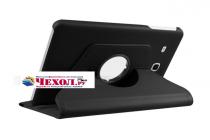 """Чехол для планшета Samsung Galaxy Tab E 8.0 SM-T377"""" поворотный роторный оборотный черный кожаный"""