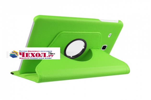 """Чехол для планшета Samsung Galaxy Tab E 8.0 SM-T377"""" поворотный роторный оборотный зеленый кожаный"""