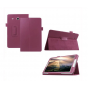 Чехол для Samsung Galaxy Tab E 8.0 SM-T377 фиолетовый кожаный..