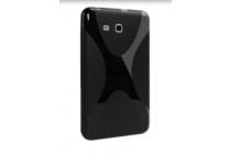 """Фирменная ультра-тонкая полимерная из мягкого качественного силикона задняя панель-чехол-накладка для Samsung Galaxy Tab E 8.0 SM-T377"""" черная"""