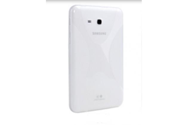 """Фирменная ультра-тонкая полимерная из мягкого качественного силикона задняя панель-чехол-накладка для Samsung Galaxy Tab E 8.0 SM-T377"""" белая"""