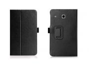 Фирменный чехол бизнес класса для Samsung Galaxy Tab E 8.0 SM-T377 с визитницей и держателем для руки черный н..