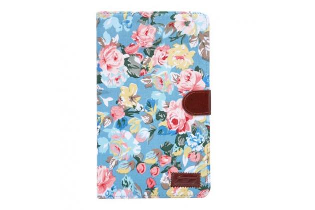 """Фирменный необычный чехол для Samsung Galaxy Tab E 8.0 SM-T377 """"тематика Винтажные Розы"""""""