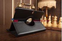 Чехол для Samsung Galaxy Tab Pro 10.1 поворотный роторный оборотный черный кожаный