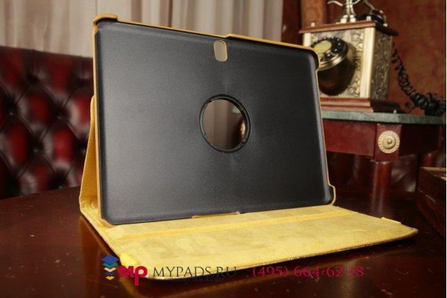 Эксклюзивный фирменный чехол для Samsung Galaxy Tab Pro 10.1 SM-T520/T525 кожа крокодила золотой. Только у нас. Количество ограничено.