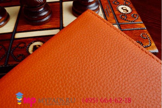 Чехол для Samsung Galaxy Tab Pro 10.1 SM T520/T525 поворотный роторный оборотный оранжевый кожаный