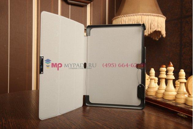 """Фирменный умный чехол самый тонкий в мире для Samsung Galaxy Tab Pro 10.1 SM-T520/T525 """"Il Sottile"""" черный пластиковый Италия"""