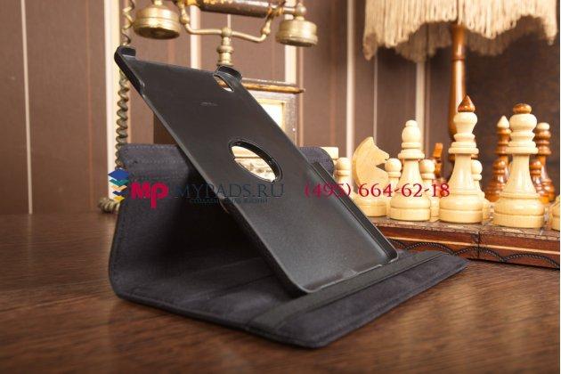 Чехол для Samsung Galaxy Tab Pro 8.4 поворотный роторный оборотный черный кожаный