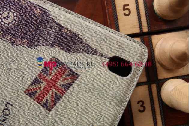 "Чехол для Samsung Galaxy Tab Pro 8.4 SM-T320/T325  ""тематика Биг Бэн Лондон"" кожаный"
