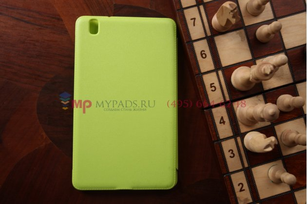 """Чехол с логотипом для Samsung Galaxy Tab Pro 8.4 с дизайном """"Book Cover"""" зеленый"""