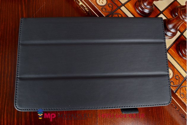 """Фирменный оригинальный чехол-книжка для Samsung Galaxy Tab Pro 8.4 SM T320/T325 с мягкой противоударной подкладкой черный """"Prestige"""" Италия"""