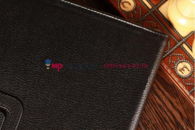 Чехол обложка для Samsung Galaxy Tab Round черный кожаный