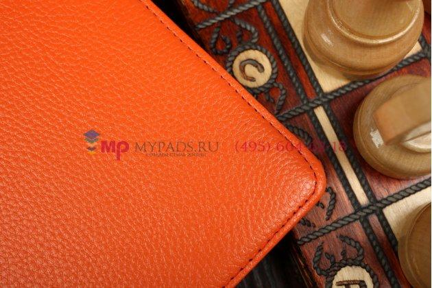 Фирменный чехол для Samsung Galaxy Tab S 10.5 с поворотным механизмом оранжевый кожаный