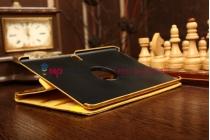 Эксклюзивный чехол для Samsung Galaxy Tab S 10.5 кожа крокодила золотой. Только в нашем магазине. Количество ограничено