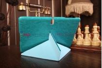 """Умный чехол с подставкой """"Оригами"""" для Samsung Galaxy Tab S 10.5 бирюзовый """"Luxury"""" натуральная кожа Италия"""