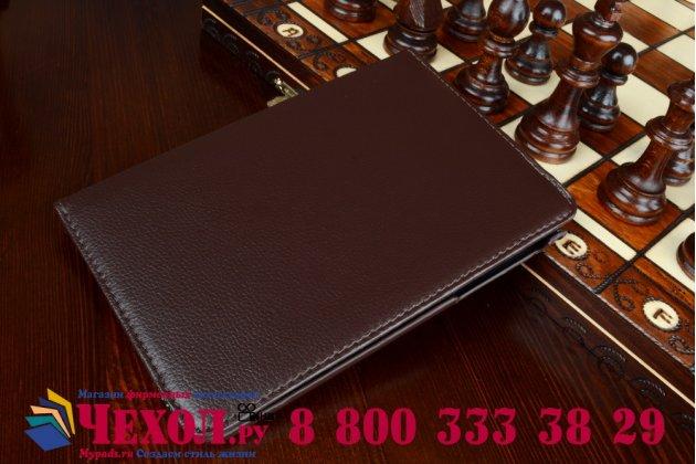 Чехол для Samsung Galaxy Tab A 8.0 SM-T350/T351/T355 поворотный роторный оборотный коричневый кожаный