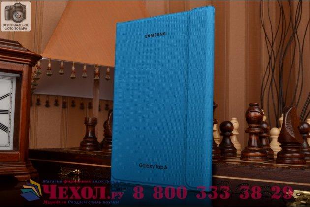 "Чехол с логотипом для Samsung Galaxy Tab A 8.0 SM-T350/T351/T355 с дизайном ""Book Cover"" голубой"