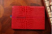 Фирменный чехол для Samsung Galaxy Note 10.1 2014 edition SM-P6000/P6010/P6050 кожа крокодила алый огненный красный