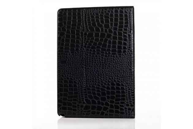 Фирменный чехол для Samsung Galaxy Note Pro 12.2 SM-P900/P901/P905 кожа крокодила цвет черный