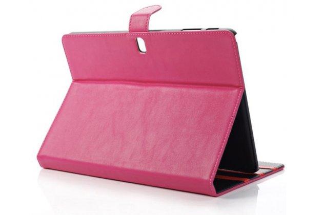 Фирменный тонкий легкий водоотталкивающий чехол открытого типа для Samsung Galaxy Note Pro 12.2 SM-P900/P901/P905 пурпурнный кожаный