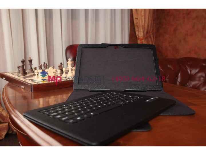Фирменный чехол со съёмной Bluetooth-клавиатурой для Samsung Galaxy Note Pro 12.2 SM-P900/P901/P905 черный кож..