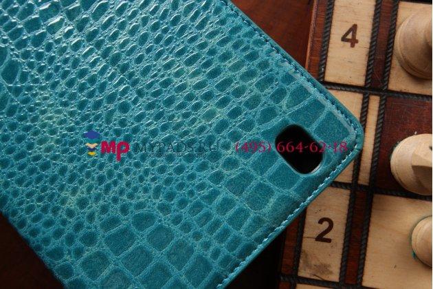 Фирменный чехол для Samsung Galaxy Tab Pro 8.4 SM-T320/T321/T325 кожа крокодила цвет морской волны бирюзовый