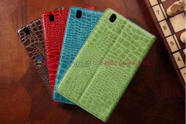 Фирменный чехол-футляр для Samsung Galaxy Tab Pro 8.4 SM-T320/T321/T325 кожа крокодила зеленый