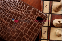 Фирменный чехол для Samsung Galaxy Tab Pro 8.4 SM-T320/T325 кожа крокодила шоколадный