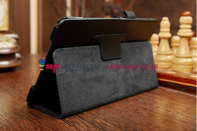 Фирменный чехол обложка для Samsung Galaxy Tab S 8.4 SM-T700/T705 черный кожаный