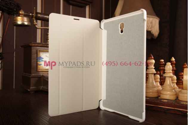 """Чехол с логотипом для Samsung Galaxy Tab S 8.4 SM-T700/T705 с дизайном """"Book Cover"""" белый"""