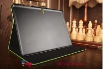 Фирменный чехол для Samsung Galaxy Tab S 10.5 SM-T800/T801/T805 кожа крокодила зеленый