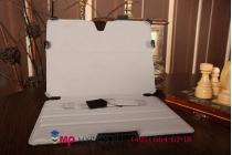 """Фирменный чехол для Samsung Galaxy Tab S 10.5 SM-T800/T801/T805 с мульти-подставкой черный натуральная кожа """"Deluxe"""" Италия"""