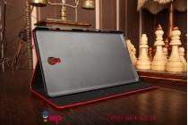 Фирменный чехол для Samsung Galaxy Tab S 8.4 SM-T700/T705 лаковая кожа крокодила алый огненный красный