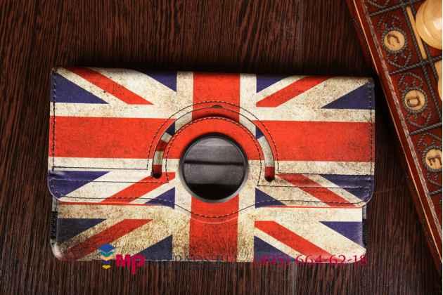 """Фирменный чехол роторный для Samsung Galaxy Tab S 8.4 SM-T700/T705 """"тематика ретро Британский флаг"""""""