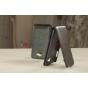 Фирменный вертикальный откидной чехол-флип для Samsung Ativ S GT-i8750 черный кожаный..