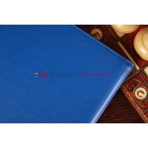 """Фирменный чехол-обложка для Samsung Ativ Smart PC XE500T1C синий натуральная кожа """"Prestige"""" Италия"""