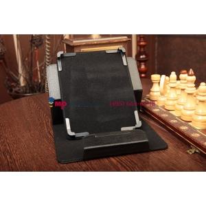 Чехол-обложка для Samsung Ativ Tab 3 черный кожаный