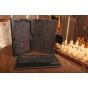 Фирменный оригинальный чехол со съёмной Bluetooth-клавиатурой для Samsung Ativ Tab 3 XE300TZC черный кожаный +..