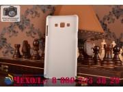 Фирменная задняя панель-крышка-накладка из тончайшего и прочного пластика для Samsung Galaxy A7 белая..