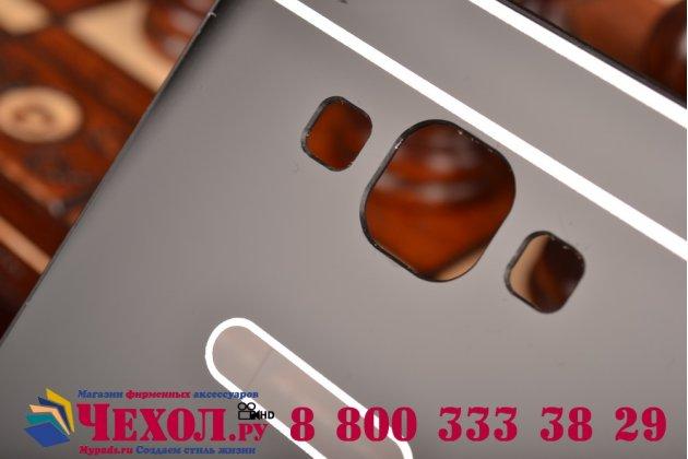 Фирменная металлическая задняя панель-крышка-накладка из тончайшего облегченного авиационного алюминия для Samsung Galaxy A7 черная