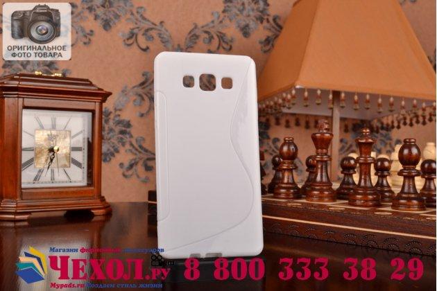 Фирменная ультра-тонкая полимерная из мягкого качественного силикона задняя панель-чехол-накладка для Samsung Galaxy A7 белая