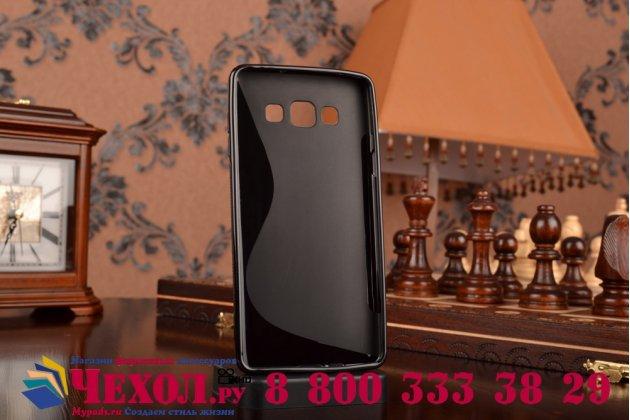 Фирменная ультра-тонкая полимерная из мягкого качественного силикона задняя панель-чехол-накладка для Samsung Galaxy A7 черная