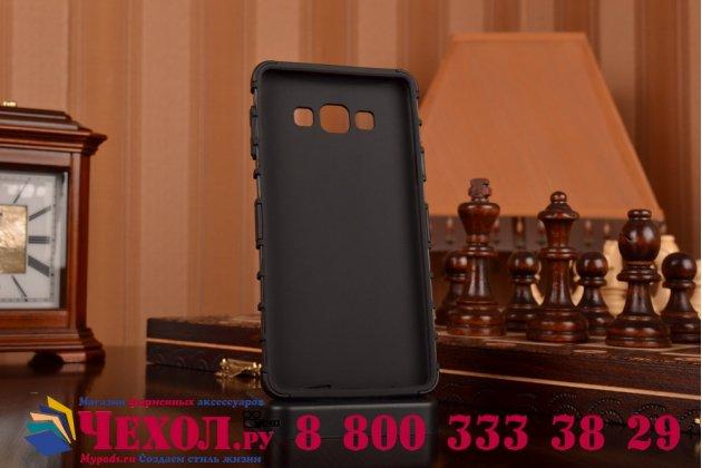 Противоударный усиленный ударопрочный фирменный чехол-бампер-пенал для Samsung Galaxy A7 черный